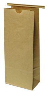 1 LB Tabbed Paper Coffee Bags - Tan 1/500