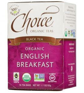 Choice® Organic 6/16 TB English Breakfast Tea
